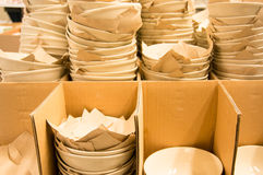 Bowls in stock Stock Images