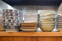 Many Bowls waiting for served Royalty Free Stock Image