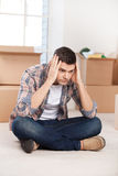 So many boxes to unpack. Royalty Free Stock Images
