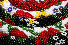 Many bracelets of beads closeup royalty free stock images