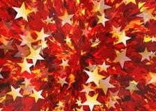 Many bright flying stars Royalty Free Stock Photography