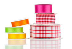 Many bright ribbons. Isolated on white Stock Photography