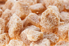 Many brown lump cane sugar cubes Stock Photo