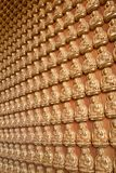The Many Buddha Wall Stock Image