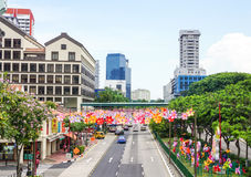 Many buildings located at Chinatown, Singapore Stock Images