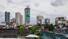 Many buildings located in Manila, Philippines Royalty Free Stock Photos