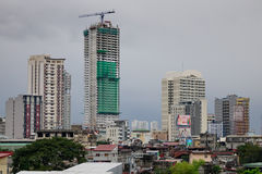 Many buildings located in Manila, Philippines Royalty Free Stock Photography