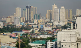 Many buildings located in Manila, Philippines Stock Image