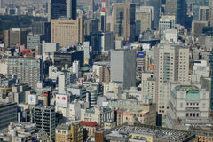 Many buildings in Osaka, Japan Royalty Free Stock Image