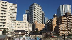 Many buildings at Shinjuku district in Tokyo, Japan.  stock video footage
