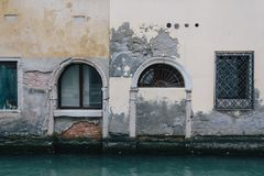 Shabby building in Venice. Many buildings in Venice are in a very alarming state Royalty Free Stock Photos