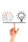 Many bulb equal a big bulb Stock Photography
