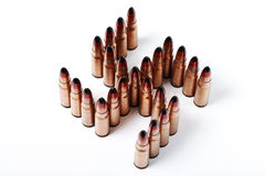 ,many bullets in the form of Kolovrat Royalty Free Stock Images