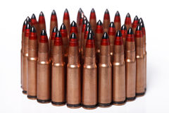 Many bullets in the shape of a circle Royalty Free Stock Image