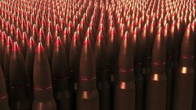 Many bullets. War, ammunition, aggression concepts. 3D rendering. Multiple bullets. War ammunition aggression concepts Royalty Free Stock Images