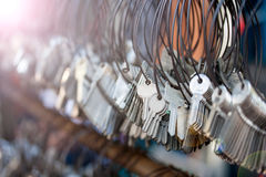 Many bunches of Keychain Stock Images