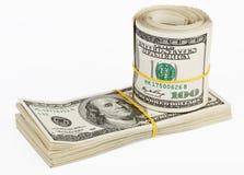Many bundle of US 100 dollars Stock Images