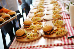 Many burgers with potoes free stock photography
