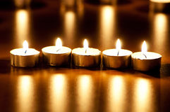 Many burning candles Royalty Free Stock Photo