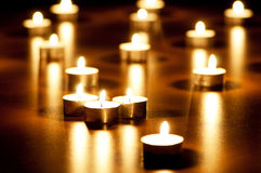 Many burning candles Stock Photography