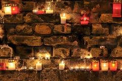 Many burning candles Royalty Free Stock Images