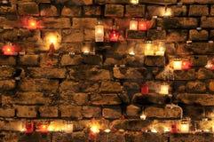 Many burning candles Stock Image