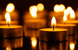 Many burning candles Royalty Free Stock Photos