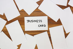Many business cards. Royalty Free Stock Image