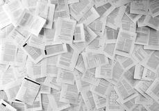 Many business documents Stock Images
