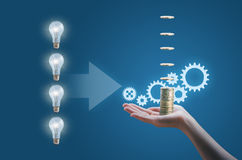 Many business ideas generate business process Stock Image