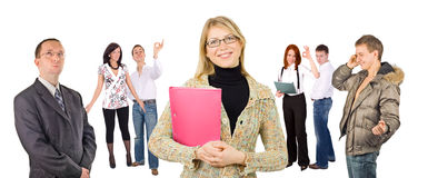 Many business people Royalty Free Stock Image