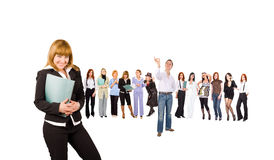 Many business people Royalty Free Stock Photos
