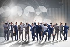 The many business people in cooperation concept stock images