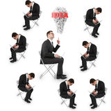 Many businessman Royalty Free Stock Images
