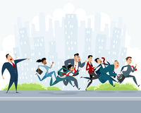 Many businessmen hurry Royalty Free Stock Image