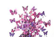Many Butterfly decorative on headset royalty free stock image