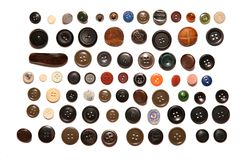 Many buttons isolated Stock Image