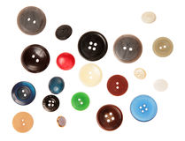 Many buttons isolated on white Royalty Free Stock Image