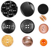 Many buttons isolated on white.  Stock Image