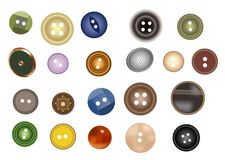 Many buttons vector. On white Royalty Free Stock Photography