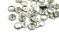 Many buttons are on white background Royalty Free Stock Photo