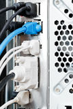Many cables and connectors of computer Stock Photography