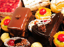Many cakes stock images