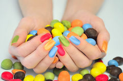 Many candies Stock Image