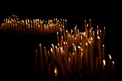 Many candles Stock Photography