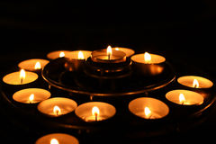Many candles Royalty Free Stock Photos