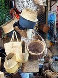 Many Cane Baskets, Athens Markets Stock Photography