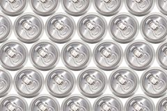 Many cans of cold beer Royalty Free Stock Photos