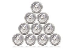 Many cans of cold beer Royalty Free Stock Photo