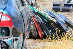 Many car doors for aftermarket. Royalty Free Stock Photos